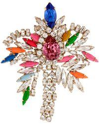 Shourouk Flamingo Crystal Brooch - Lyst