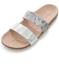 Loeffler Randall Paz Sandal silver - Lyst