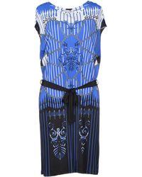 Versace Blue Knee-length Dress - Lyst
