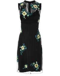 Christopher Kane Floral Embroidered Tulle Dress - Lyst