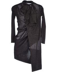Aminaka Wilmont Short Dress gray - Lyst
