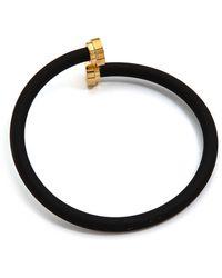 Marc By Marc Jacobs - Rubberized Tubular Bangle Bracelet Black - Lyst