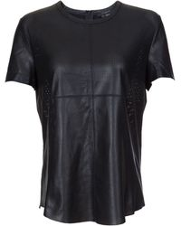 Scoop Maiko Perforated Leather Top - Lyst