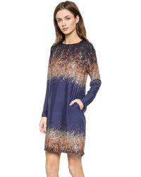 Rodebjer Candice Dazzle Print Dress - Twilight Blue Dazzle