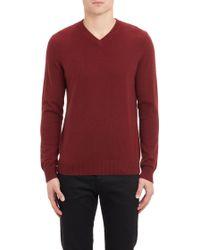 Theory Riland Vt V-neck Sweater - Lyst