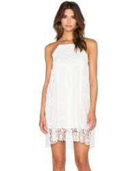 The LDRS Scalloped Lace Dress - White