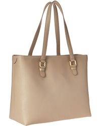 Versace Leather Tote Bag beige - Lyst