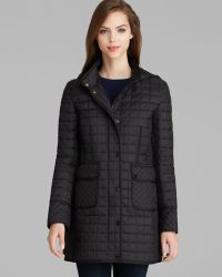 DKNY Coat - Hayley Hooded Quilted - Lyst