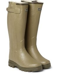 Le Chameau Chasseur Shearling-lined Wellington Boots - Lyst