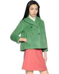 Marni Brushed Wool Blend Jacket - Lyst