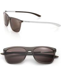 Giorgio Armani 55Mm Acetate & Metal Sunglasses brown - Lyst