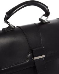 ASOS - Leather Top Handle Bag with Metal Bar - Lyst