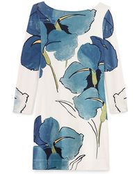 Tory Burch Blue Bonnie Dress - Lyst