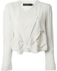 Donna Karan New York Wrap Jacket - Lyst