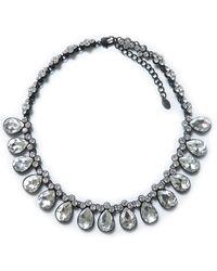 Zara Crystal Drop Necklace - Lyst