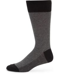 Saks Fifth Avenue Black Label - Diagonal Stripe Socks - Lyst