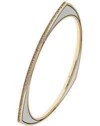 House Of Harlow Asymmetrical Pave Bangle Bracelet - Lyst
