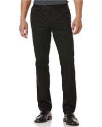 Perry Ellis Twill Four-Pocket Slim Leg Pants - Lyst