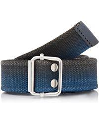 Caputo & Co. - Two-tone Webbed Belt - Lyst