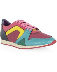 Burberry Prorsum - Colour Block Leather Field Trainer - Lyst