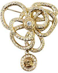 Versace Versace Flower Brooch, 1990s - Metallic
