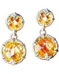 Judith Ripka Canary Drop Earrings Sterling Silver - Yellow