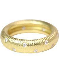 Paul Morelli 18k Gold Band With Diamonds - Yellow