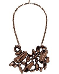 Burberry Statement Fall 2008 'chunky' Bronze Metalic Necklace - Runway Look 36 - Multicolor