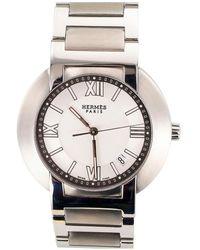 Hermès Hermes Automatic Quartz Movement Gentlemans Steel Wristwatch - Multicolor