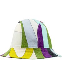 Emilio Pucci 2000's Multicoloured Wool Bucket Hat - Green