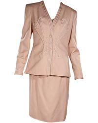 Valentino Vintage Skirt Suit Set - Pink