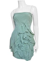 Robert Rodriguez Dress With Large Flower - Blue