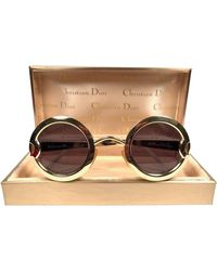 Dior Limited Edition 2918 40 Round Sunglasses, 1980s - Metallic