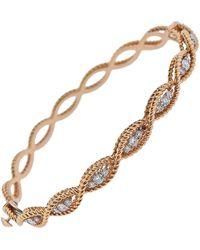 Roberto Coin - Barocco Gold Diamond Braided Bangle Bracelet - Lyst