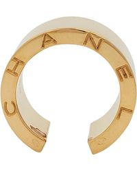 Chanel 'c Signature' Gold Open Band Ring - Yellow