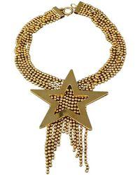 Moschino Vintage Massive Star Strand Fringe Necklace - Metallic