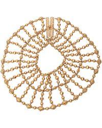 Napier Cleopatra Style Beaded Collar Necklace Vintage - Metallic