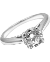 Harry Winston .56 Carat Vvs1/f Diamond Solitaire Platinum Engagement Ring - Metallic