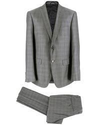 Balmain Men's Gray Check Slim Fit Suit Size - L Eu 50