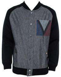 Louis Vuitton Denim Varsity Knit Jacket Xl - Black