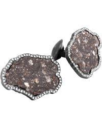 Tateossian - Lunar Breccia 18 Karat Gold Cufflinks, Limited Edition - Lyst