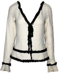 Chanel Stunning Signature Monochrome Sequin Fantasy Tweed Jacket - Gray