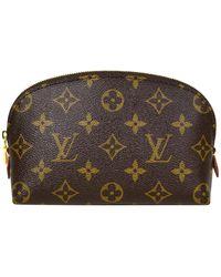 Louis Vuitton Monogram Coated Canvas Cosmetic Pouch Bag - Black