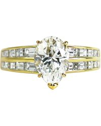 Van Cleef & Arpels - Gia Certified 2.00 Carat E Vs1 Pear Brilliant Diamond Ring - Lyst