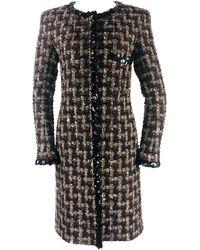Chanel Metallic Lesage Fantasy Tweed Trimmed Evening Coat W/ Sequin Size Fr 40 - Black