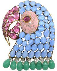 Iradj Moini Parrot Brooch - Blue