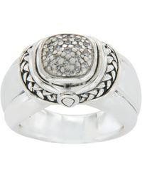 Scott Kay 925 Sterling Silver Diamonds Engagement Ring - Metallic