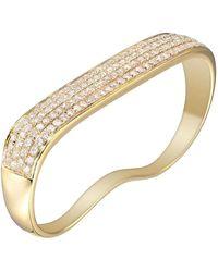 AS29 18 Karat Gold Lana Flat Diamond 2-fingers Ring - Yellow