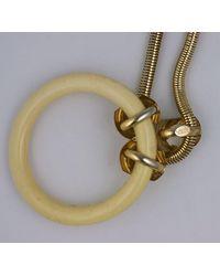 Lanvin Lanvin Faux Ivory Hoop Pendant - White