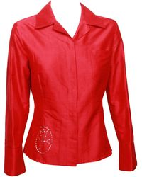 JC de Castelbajac Red Silk Shirt